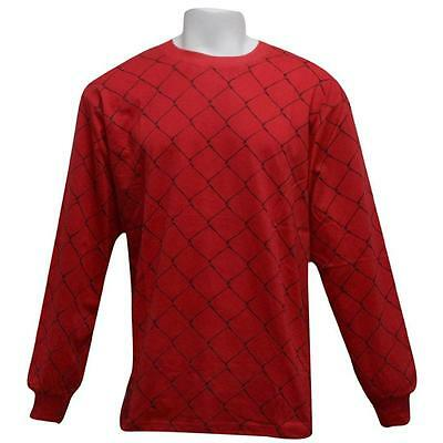 $40 Sneaktip Fence Long Sleeve Tee red