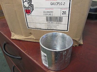 RobRoy Galvanized Steel Coupling GALCPLG2 *Box of 19* New Surplus