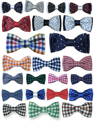 Boys Quality Bow Ties Boys Check Bow Tie Kids Polka Dot Bow Tie Children Bow
