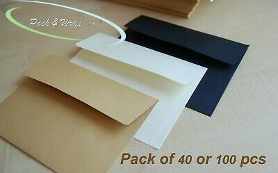 20/50 x B6 ENVELOPES - 17.5*12.5cm wallet style craft card making bulk lot