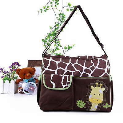 Lovely Multi Function Baby Diaper Nappy Changing Bag Changing Mat Tote Handbag