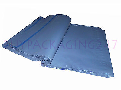 100 Mixed Grey Strong Polythene Plastic Mailing Mail Mailers Postal Post Bags