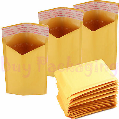 Economy Gold Bubble Lined Envelopes Mailers Bags *all Sizes*