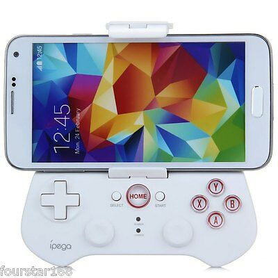 Bluetooth Wireless Game Pad Controller for iOS / Android Phones PC Games White