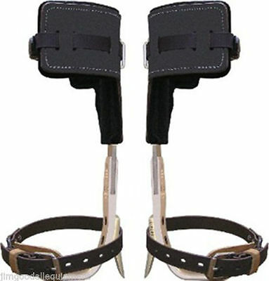 Climb Right Aluminum Tree Climbers Spur Set w/Strap,T Pads,Long Tree Gaffs, USA
