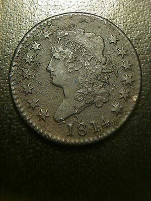 1814 Classic Turban Head Large Cent XF Extremely Fine Liberty Sheldon Variety