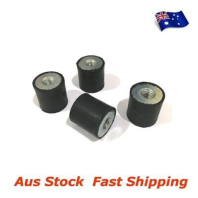 4pcs M6 Anti Vibration Rubber Mount Isolator Double Side Female Female FF 20X20