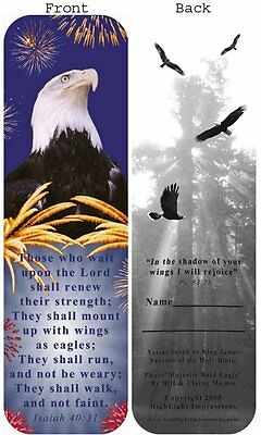 LOT/30   CHRISTIAN BOOKMARKS EAGLE  those who wait upon the Lord.....