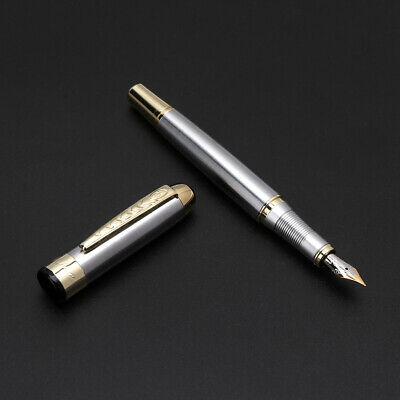 Chic Jinhao 250 Fountain Pen Golden And Silver M Nib NEW