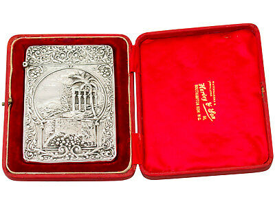 Antique Edwardian Sterling Silver Card Case by Robert Pringle & Sons