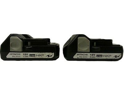 TWO BSL1815X Slide Style 18V Lithium-Ion Battery Fits WH18DSAL DS18DSAL Hitachi