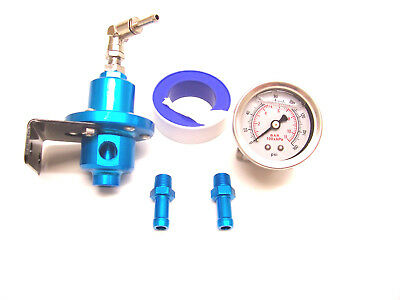RSR Benzindruck Regler blau einstellbar Manometer VR6 16V G60 G40 Turbo 1,8T S3