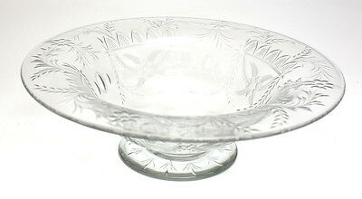 Continental Hand Etched, Cut, & Polished Floral Crystal Centerpiece; c.1900