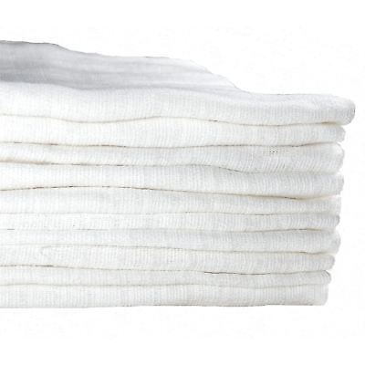 10 White Muslin Squares Baby Muslins Nappy Inserts 70cm 100% Cotton Bibs Cloths