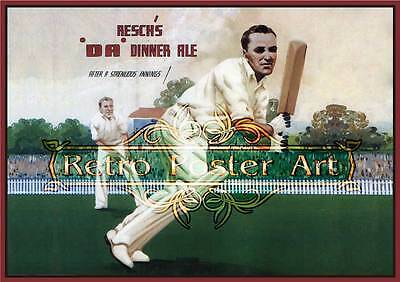 Resches Dinner Ale Cricket print classic retro beer premium 250gsm satin poster