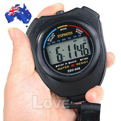 OZ J Handheld Digital LCD Chronograph Sports Counter Stopwatch Timer