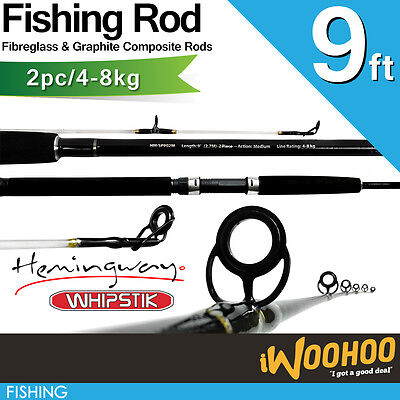 9ft Whipstik Fishing Rod 2 Piece 4-8kg Spin Rod Estuary & All rounder Beach