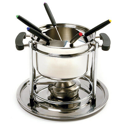 Norpro 499 Stainless Steel 11 pc Fondue Set, Great for Chocolate Cheese Fondues