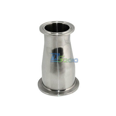 """25MM to 51MM  1"""" to 2"""" Sanitary Ferrule Reducer Fitting SS 316 to Tri Clamp"""