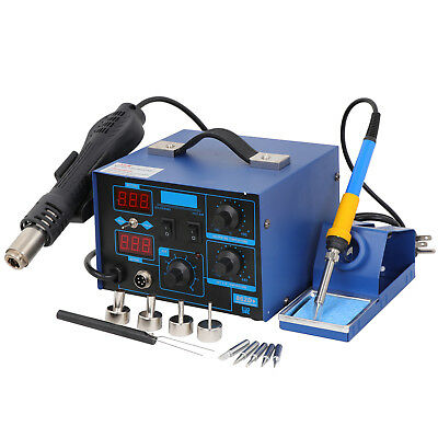 Great 2-1 862D+ SMD Soldering Iron Hot Air Rework Station LED Display & 4 Nozzle