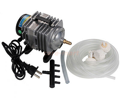 220V Electromagnetic Oxygen Air Pump Aquarium Pond Hydroponi Fish Tank ACO-001