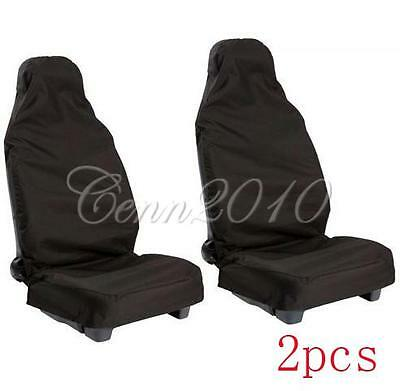 2x Universal Cubierta Asiento Funda Resistente Impermeable Coche Protector Auto