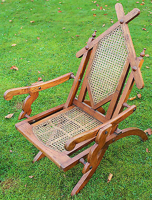 Vintage Art Deco Folding Campaign Chair