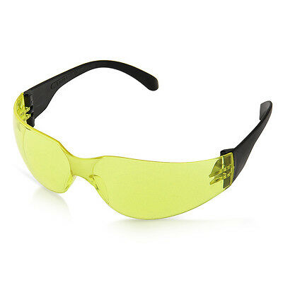 Sports Industrial Lab Safety Glasses Goggles Spectacles Yellow Lens Durable
