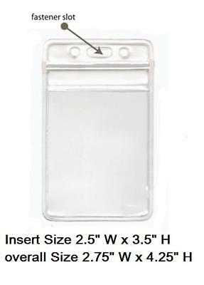100 Clear Plastic ID BADGE HOLDERS VERTICAL/HORIZONTAL