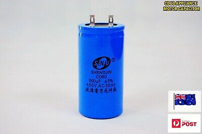CD60 AC 450V 50/60Hz Appliance Motor Run Capacitor (Two Pins) 500uF (D162) - New