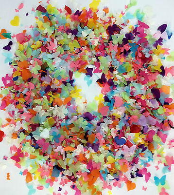 Biodegradable Confetti Rainbow Hearts Butterfly Flowers Eco fill up to 10 Cones