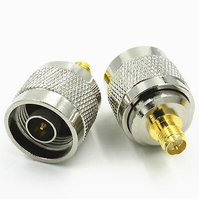 RP SMA Female Jack to N Type Male Plug RF Coaxial Adapter Connector