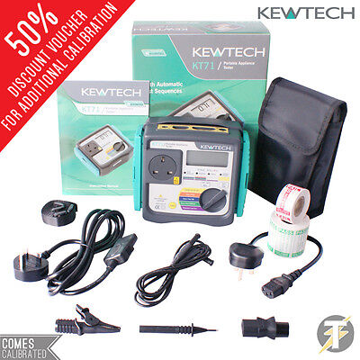 Kewtech KT71 PAT Tester (Earth Bond, Current & Insulation) + FREE Accessories