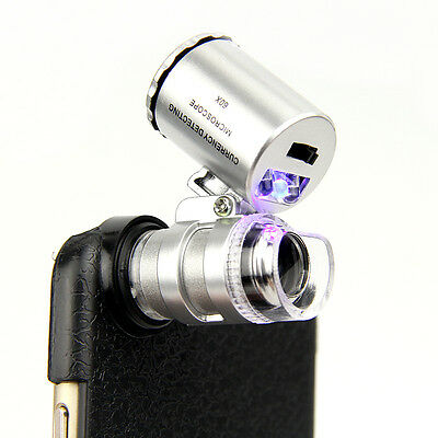 60x Zoom UV LED Microscope Magnify Magnifier Micro Camera Lens For iPhone 6 4.7""