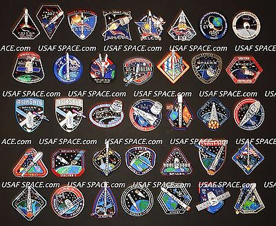 SPACEX - 21 Mission SPACE PATCH SET - FALCON-9 ORIGINAL - NASA ISS CRS-5,4,3,2,1