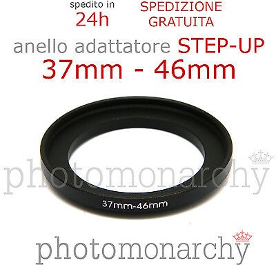 Anello STEP-UP adattatore da 37mm a 46mm filtro - STEP UP adapter ring 37 46 mm