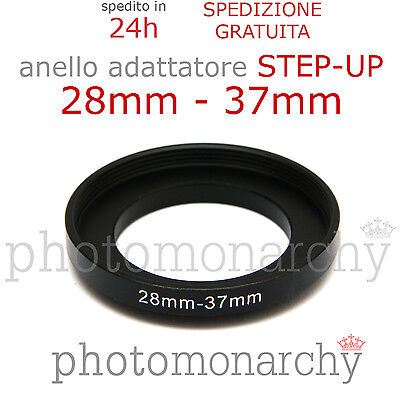 Anello STEP-UP adattatore da 28mm a 37mm filtro - STEP UP adapter ring 28 37 mm