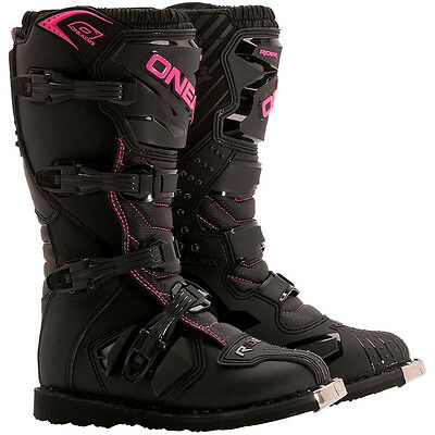 Oneal NEW 2017 Ladies Mx Rider Black Pink Cheap Dirt Bike Womens Motocross Boots