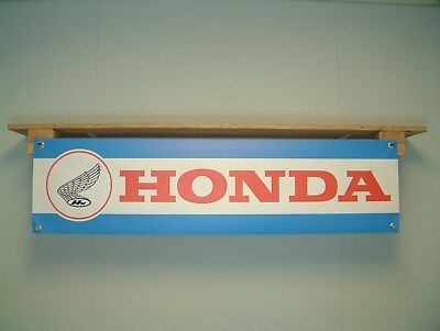 HONDA Banner Classic Vintage Retro style Motorcycle Garage or Workshop Sign