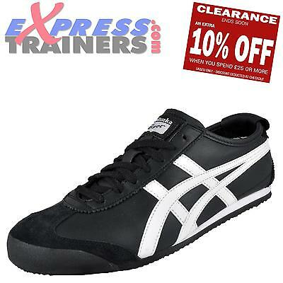 Onitsuka Tiger Men's Mexico 66 Vintage Leather Trainers (Blk/Wht) * AUTHENTIC *