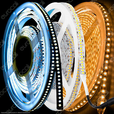 STRISCIA LED Bobina 5mt 5630 5050 3528 RGB Strip SMD Impermeabile IP65 e Interno