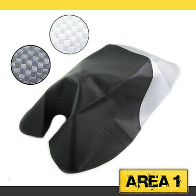 Seat Cover Carbon-Look/Silber, Peugeot Speedfight 1 Styling