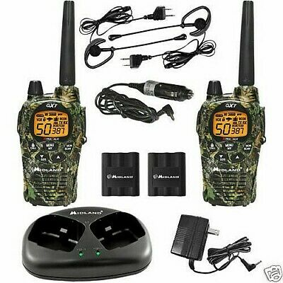 2 Walkie Talkies Midland Gxt1050 Con Cargador Y Micros 5W 56 Kms , Vox Vibracall