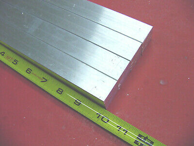 "4 Pieces 3/4"" X 3/4"" ALUMINUM 6061 SQUARE FLAT BAR 10"" long T6511 New Mill Stock"