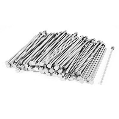 100 Pcs 3.5mm Diameter Round Tip Steel Straight HSS Ejector Pin