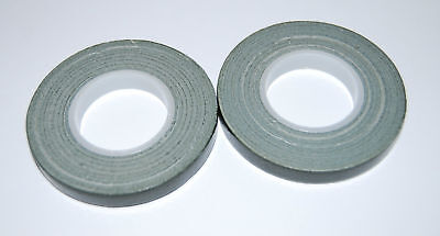 Green Florist POT / stem  tape - TWO x 9mm x 10m rolls - TOP VALUE  -  POST FREE