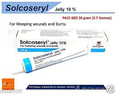 20 G Solcoseryl Jelly 10% For Weeping Wounds burns treating Minor Skin Ulcers