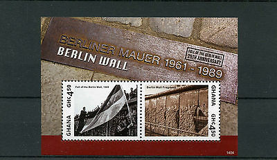Ghana 2014 MNH Berlin Wall 25th Anniv Fall 2v S/S II Berliner Mauer