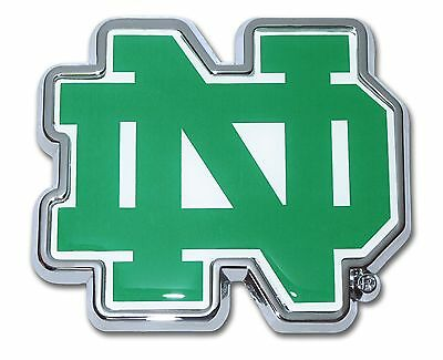 Notre Dame Fighting Irish Color Chrome Metal ND Auto Emblem Decal Car Truck NCAA