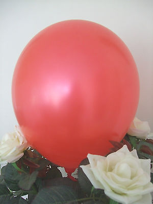 "50 RED LATEX BALLOONS 12"" HIGH QUALITY Helium Air Biodegradable Wedding Party"